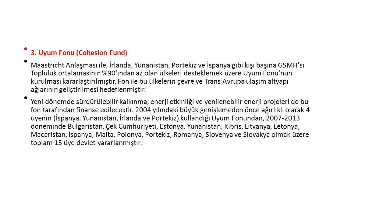 3. Uyum Fonu (Cohesion Fund)