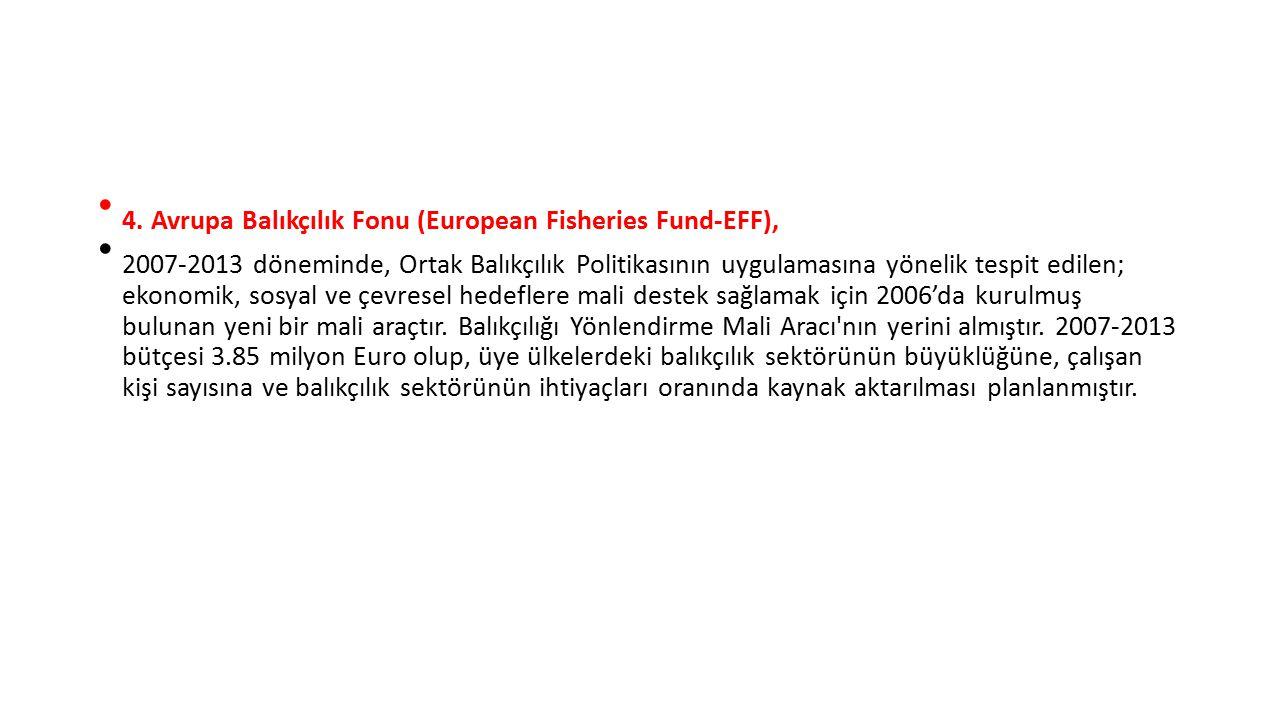 4. Avrupa Balıkçılık Fonu (European Fisheries Fund-EFF),