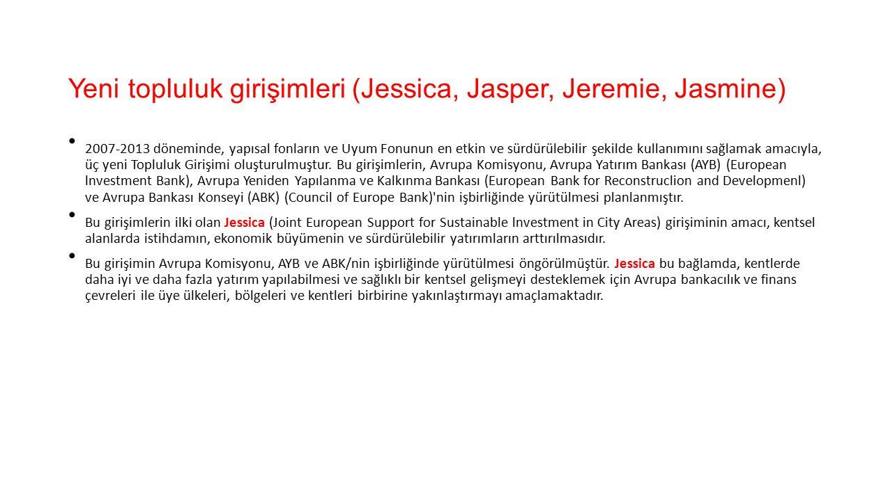 Yeni topluluk girişimleri (Jessica, Jasper, Jeremie, Jasmine)