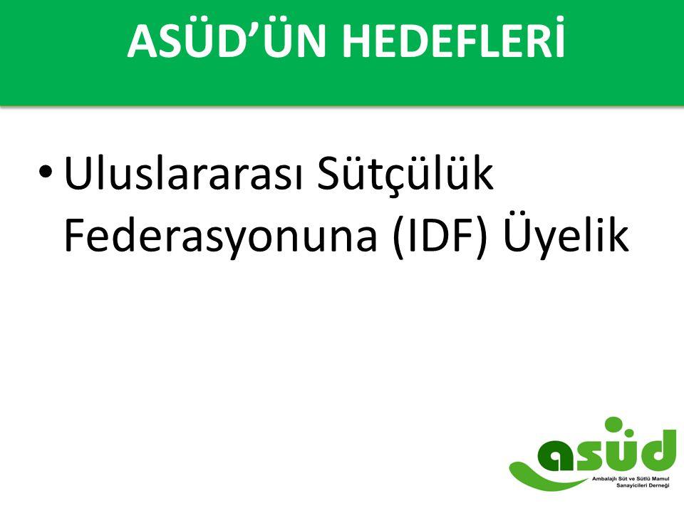 Uluslararası Sütçülük Federasyonuna (IDF) Üyelik