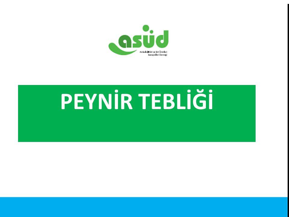 PEYNİR TEBLİĞİ Kaynak: Türkiye İstatistik Kurumu