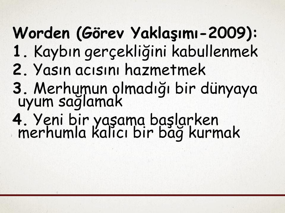 Worden (Görev Yaklaşımı-2009):