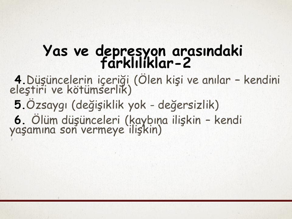Yas ve depresyon arasındaki farklılıklar-2