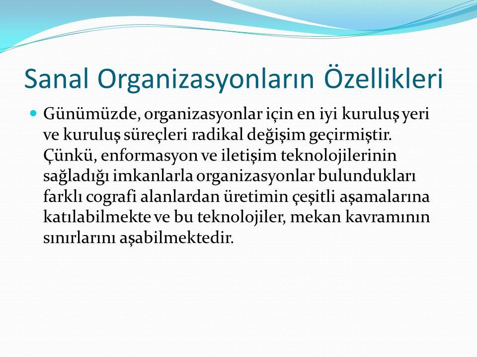 Sanal Organizasyonların Özellikleri