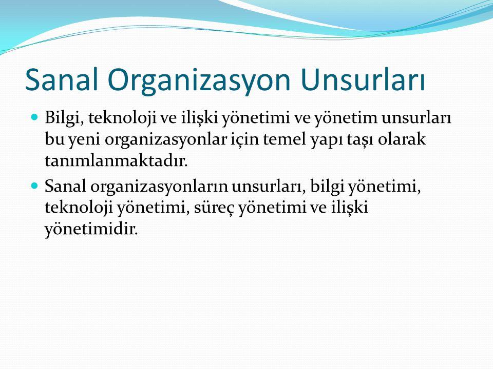 Sanal Organizasyon Unsurları