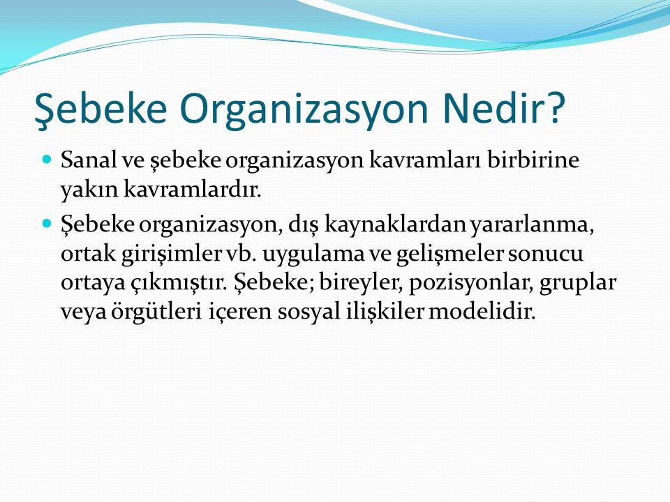 Şebeke Organizasyon Nedir