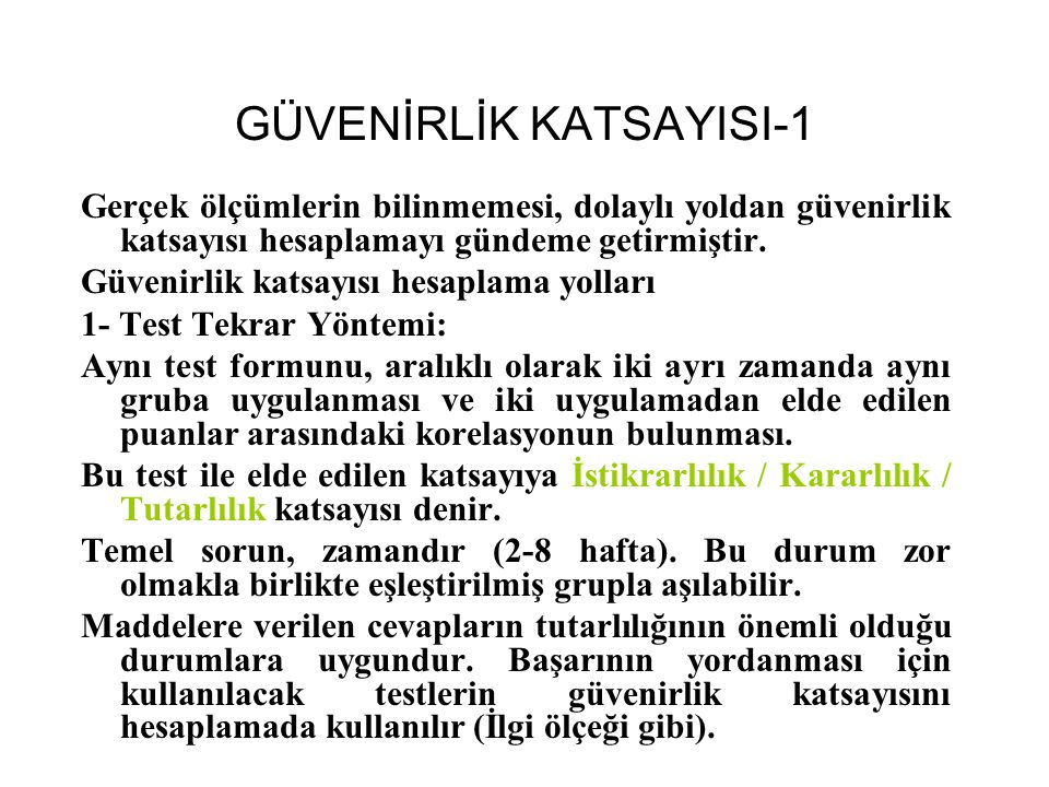 GÜVENİRLİK KATSAYISI-1