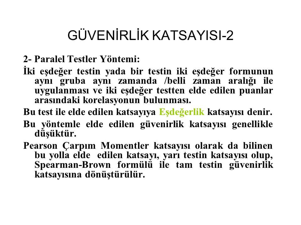 GÜVENİRLİK KATSAYISI-2
