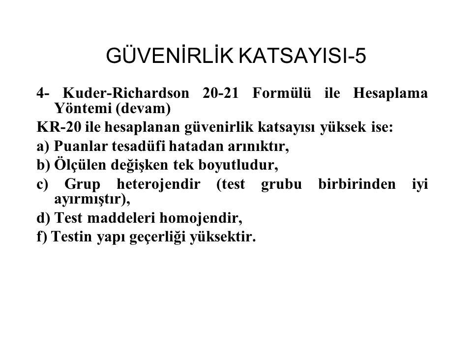 GÜVENİRLİK KATSAYISI-5
