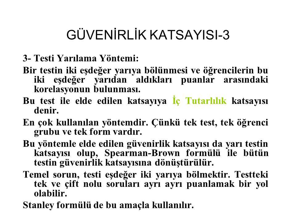 GÜVENİRLİK KATSAYISI-3