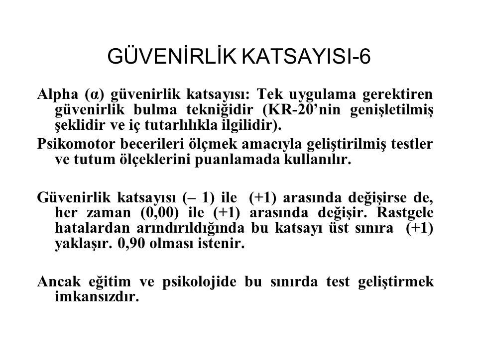 GÜVENİRLİK KATSAYISI-6