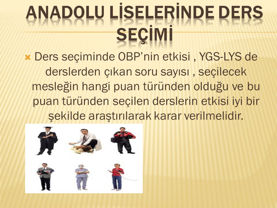 Anadolu lİselerİnde ders seçİmİ