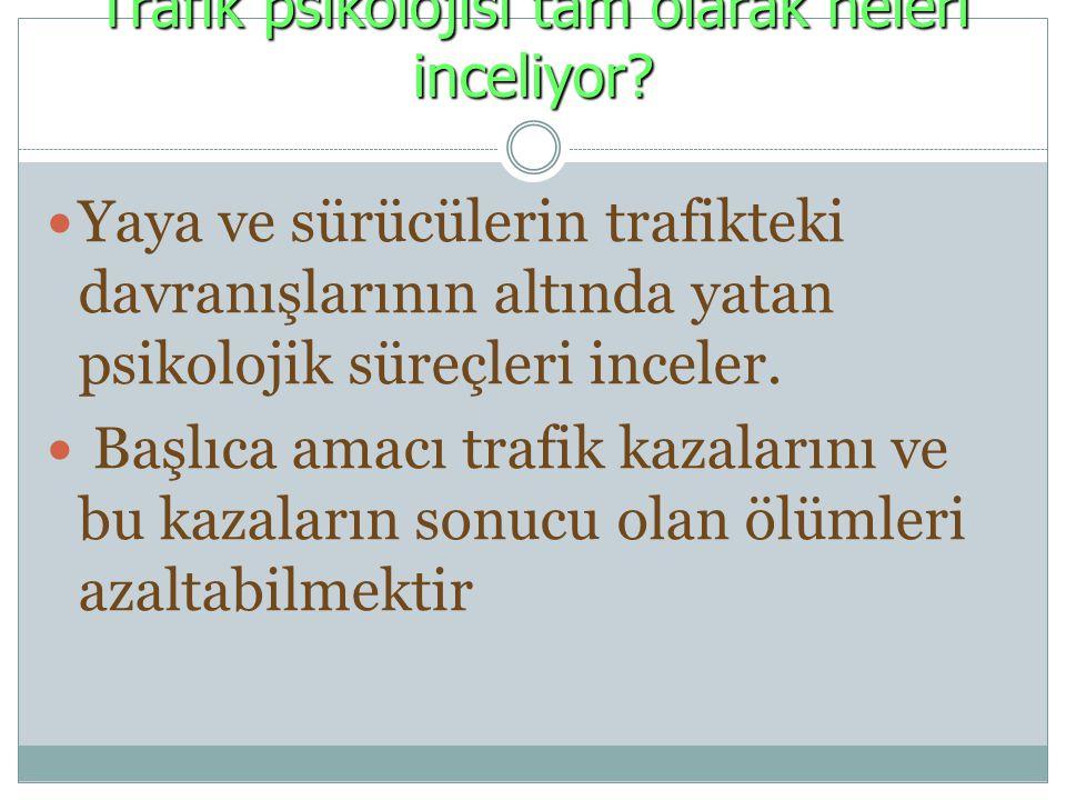 Trafik psikolojisi tam olarak neleri inceliyor