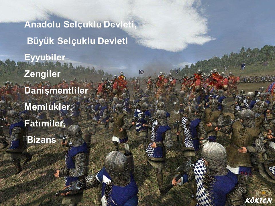Anadolu Selçuklu Devleti, Büyük Selçuklu Devleti Eyyubiler Zengiler