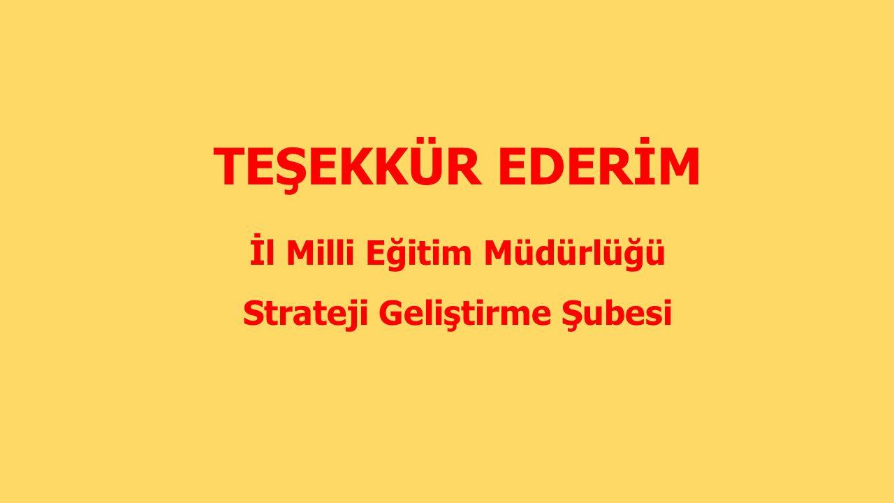 İl Milli Eğitim Müdürlüğü Strateji Geliştirme Şubesi