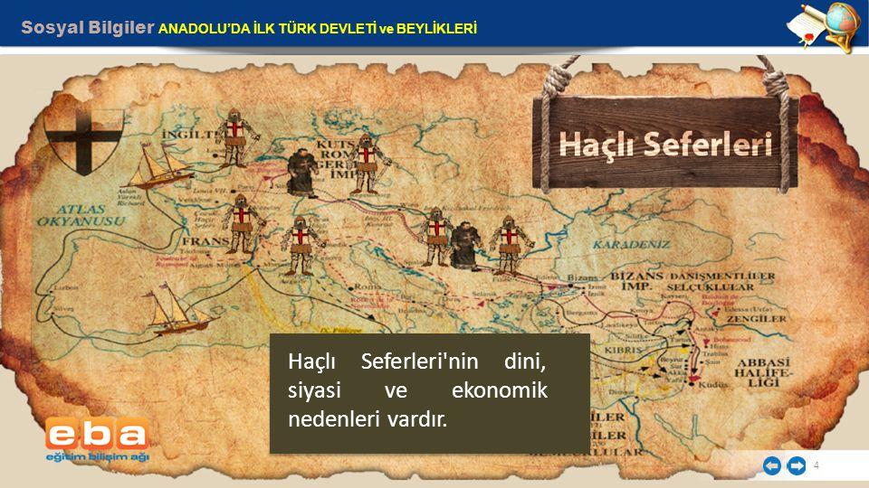 Haçlı Seferleri nin dini, siyasi ve ekonomik nedenleri vardır.