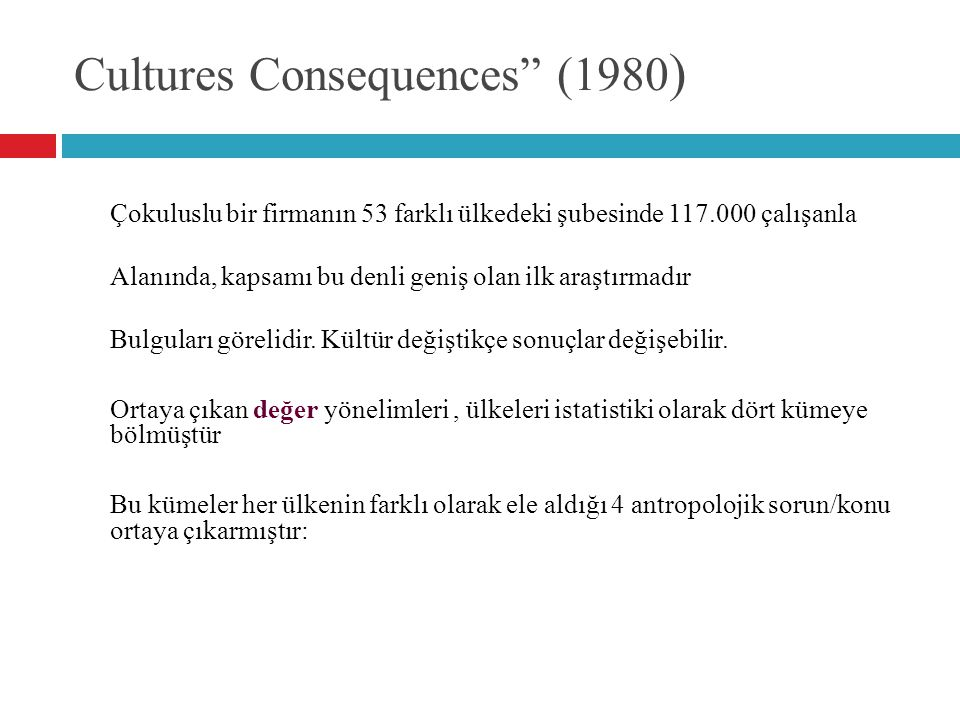 Cultures Consequences (1980)