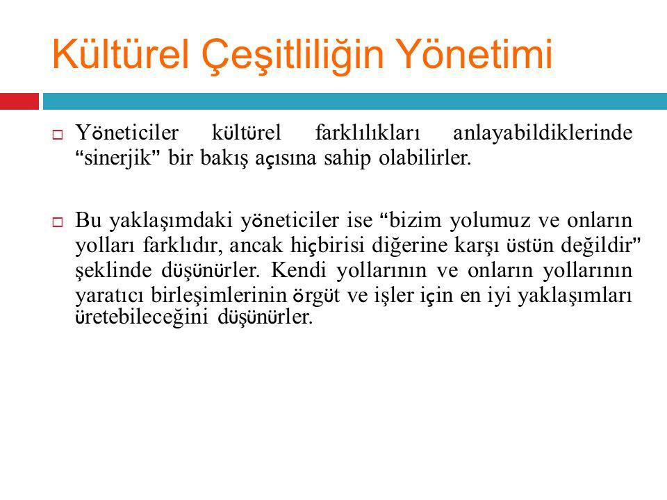 Kültürel Çeşitliliğin Yönetimi
