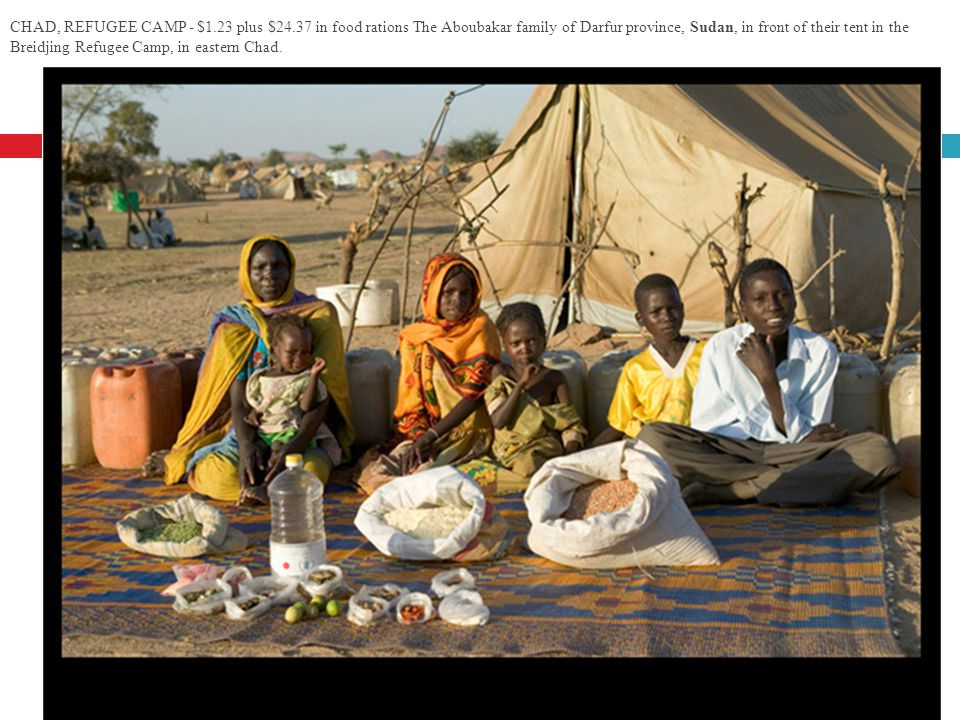 CHAD, REFUGEE CAMP - $1. 23 plus $24