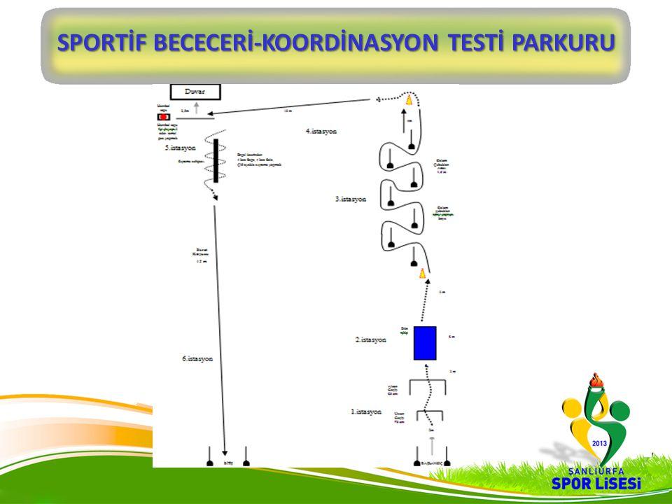 SPORTİF BECECERİ-KOORDİNASYON TESTİ PARKURU