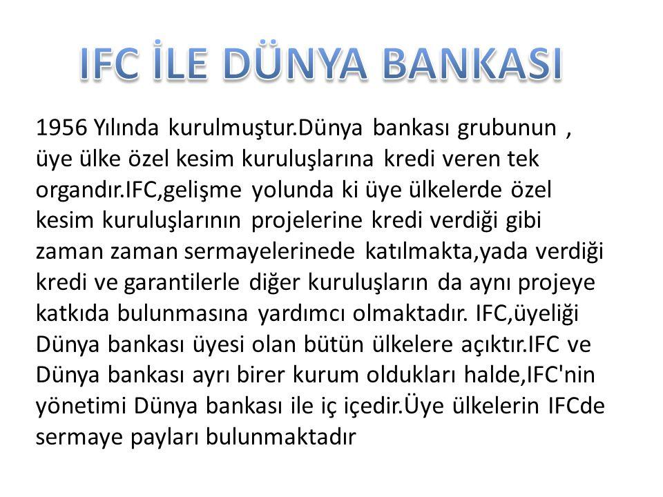 IFC İLE DÜNYA BANKASI