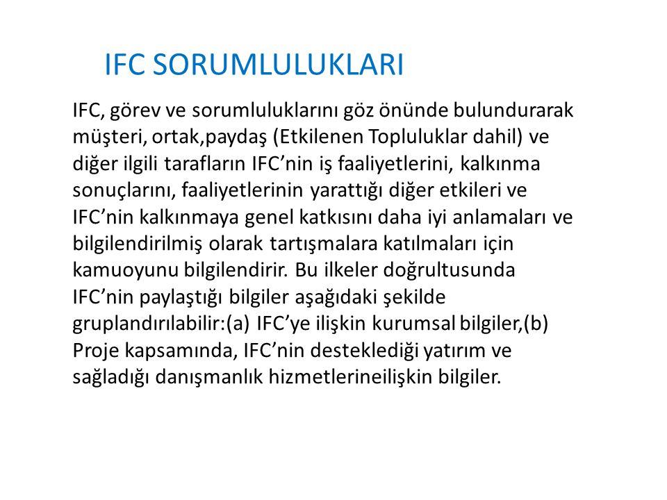 IFC SORUMLULUKLARI