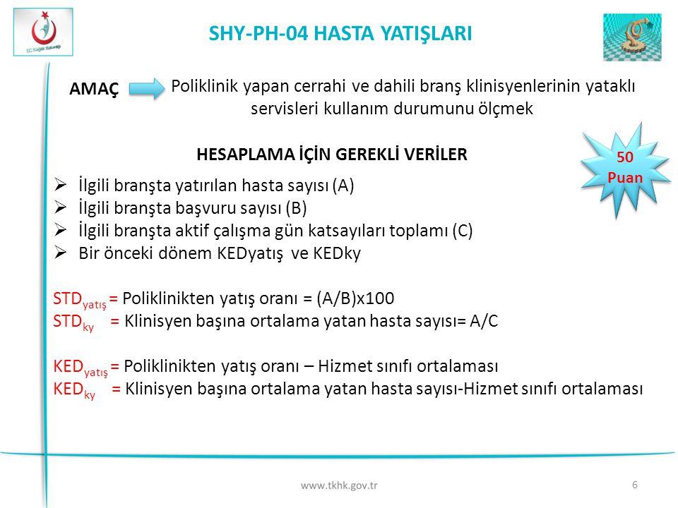 SHY-PH-04 HASTA YATIŞLARI
