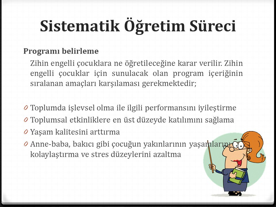 Sistematik Öğretim Süreci