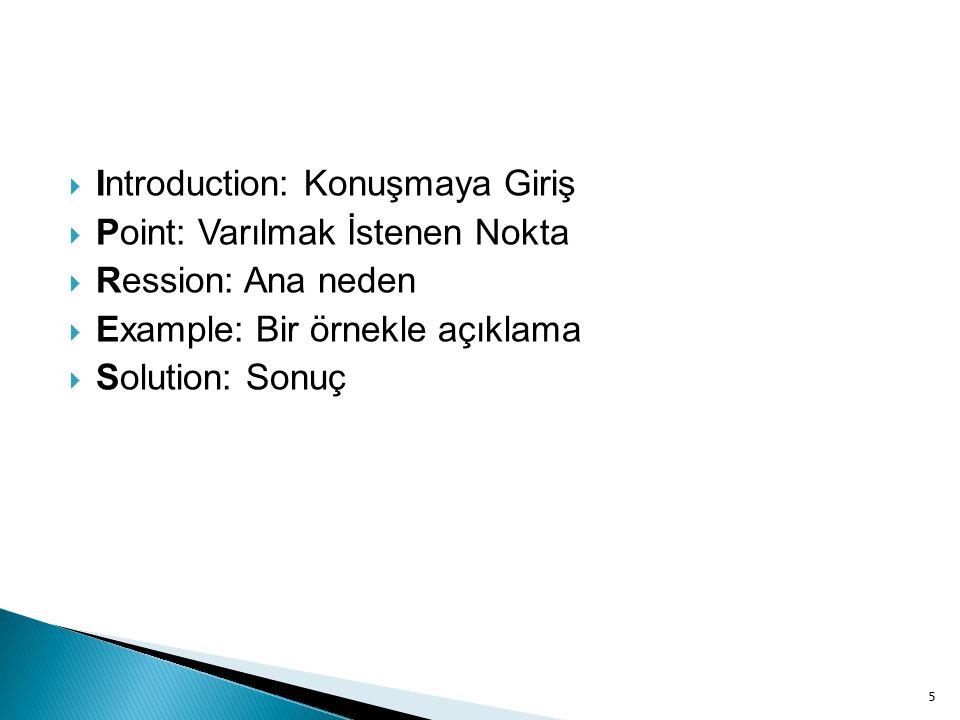 Introduction: Konuşmaya Giriş