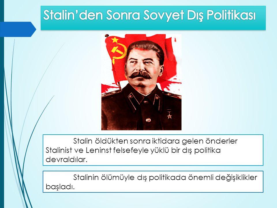 Stalin'den Sonra Sovyet Dış Politikası