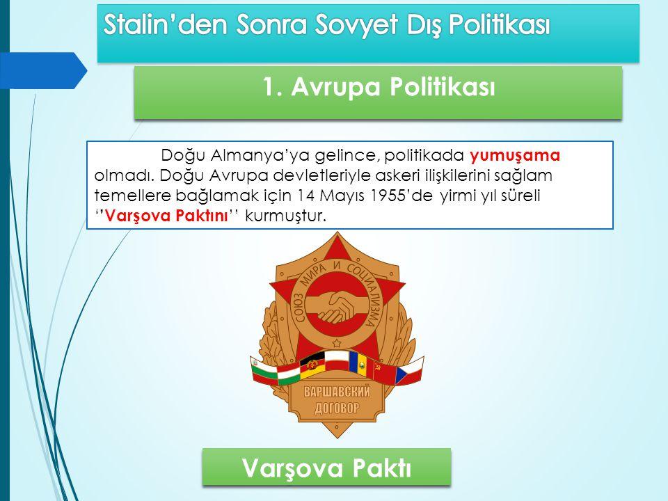 1. Avrupa Politikası Varşova Paktı