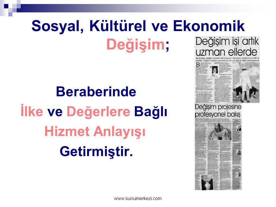 Sosyal, Kültürel ve Ekonomik Değişim;