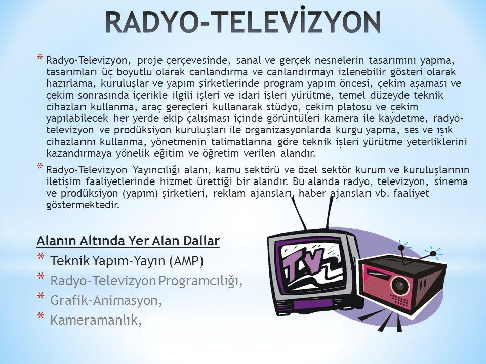 RADYO-TELEVİZYON Alanın Altında Yer Alan Dallar