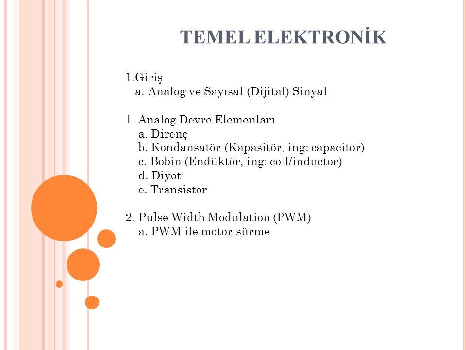 TEMEL ELEKTRONİK 1.Giriş a. Analog ve Sayısal (Dijital) Sinyal