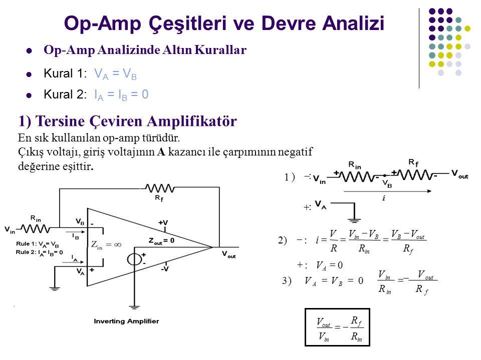 Op-Amp Çeşitleri ve Devre Analizi