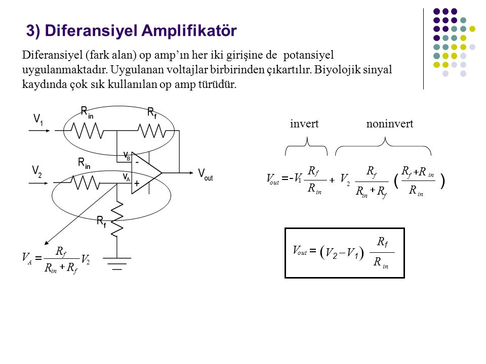 3) Diferansiyel Amplifikatör