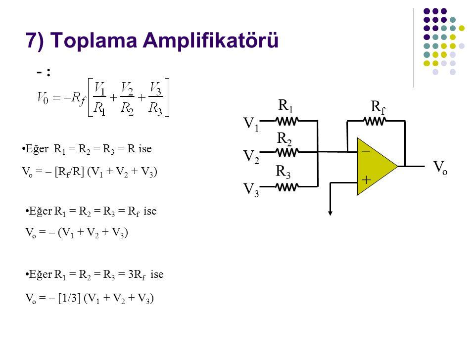 7) Toplama Amplifikatörü