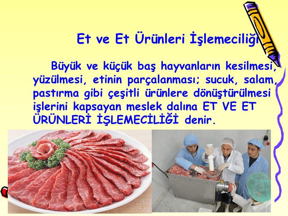 Et ve Et Ürünleri İşlemeciliği