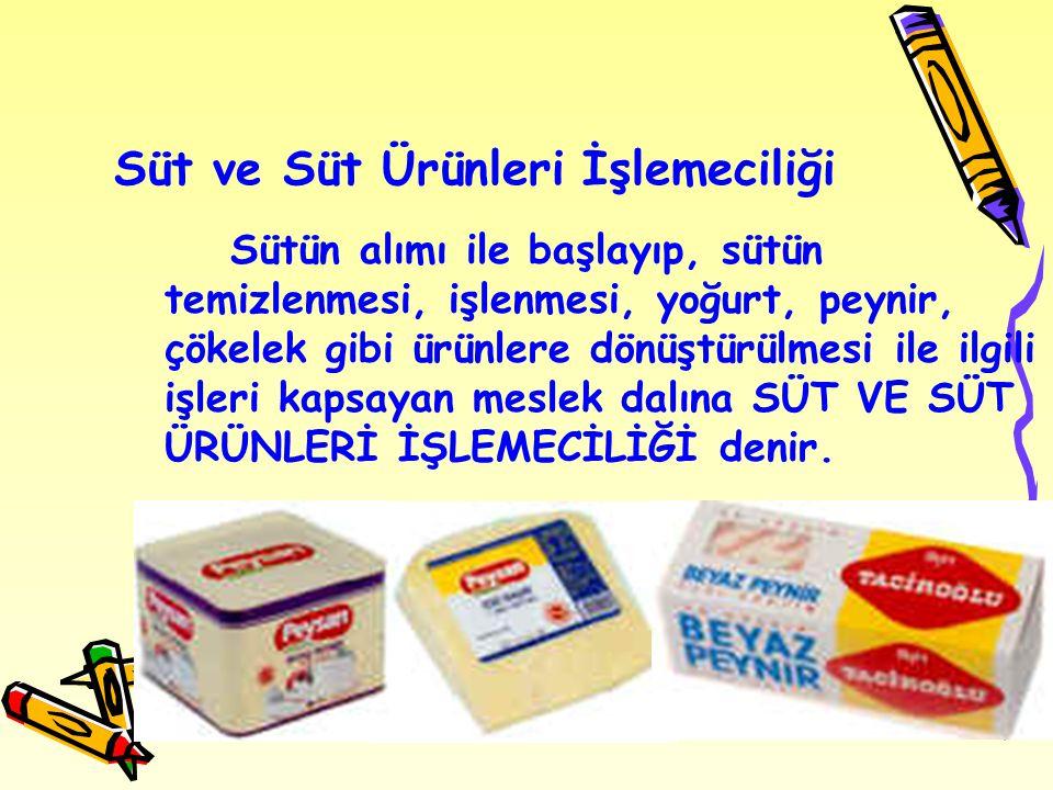 Süt ve Süt Ürünleri İşlemeciliği