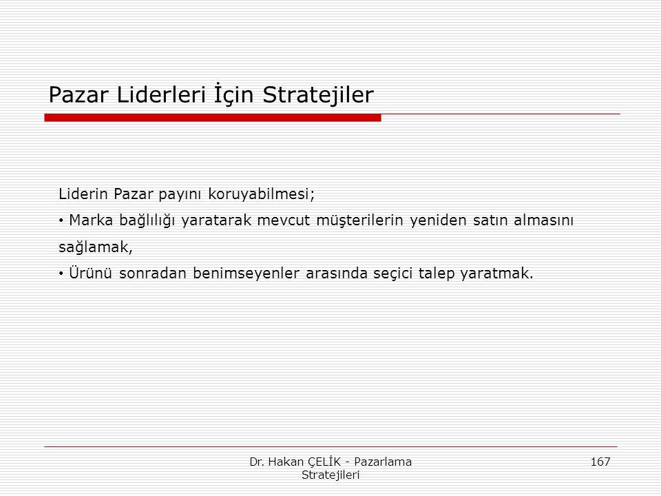Pazar Liderleri İçin Stratejiler