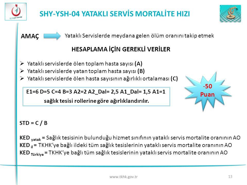 SHY-YSH-04 YATAKLI SERVİS MORTALİTE HIZI