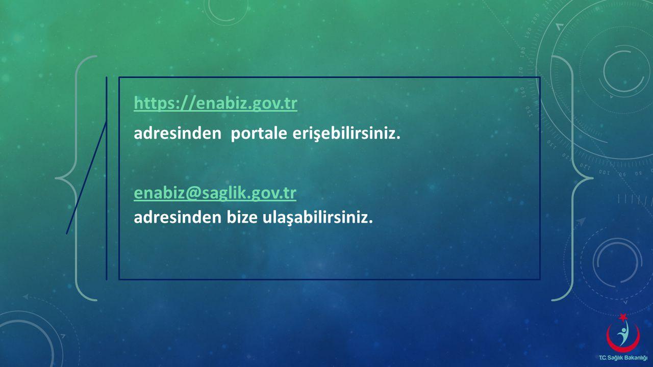 https://enabiz.gov.tr adresinden portale erişebilirsiniz.