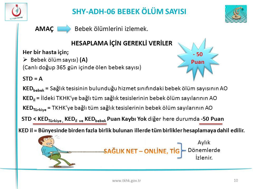 SHY-ADH-06 BEBEK ÖLÜM SAYISI