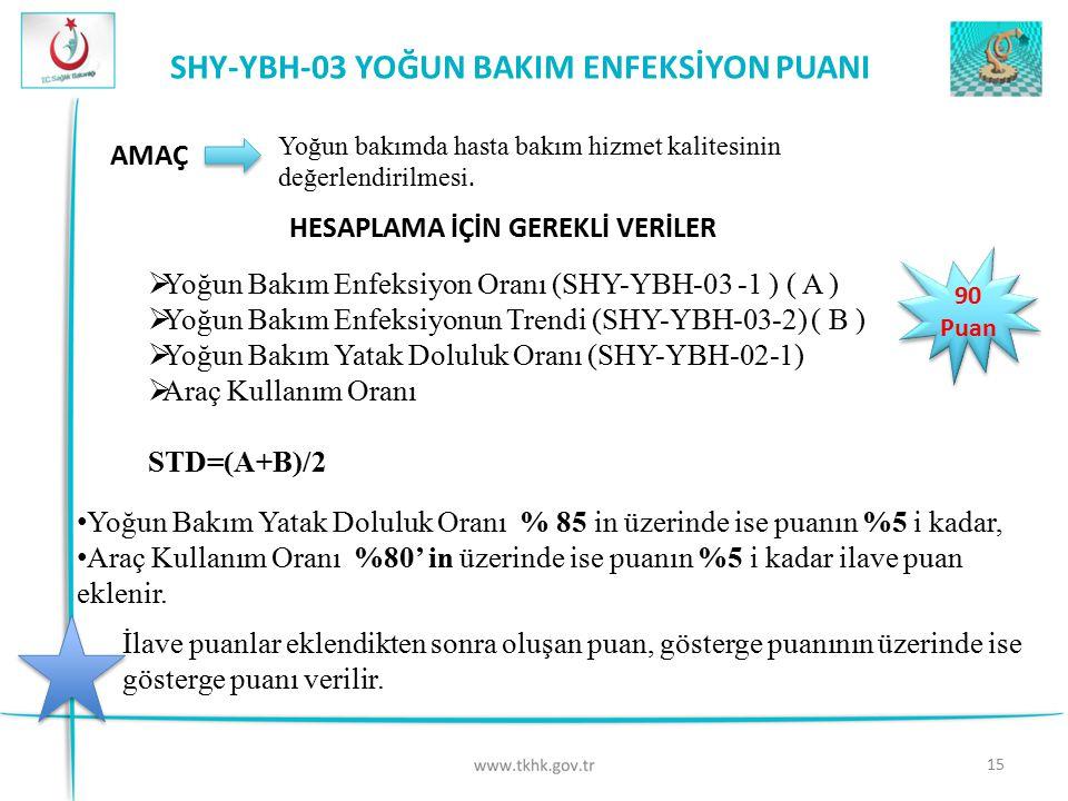 SHY-YBH-03 YOĞUN BAKIM ENFEKSİYON PUANI