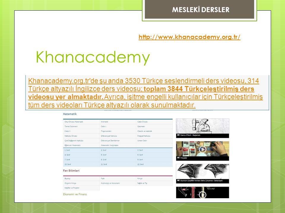 Khanacademy MESLEKİ DERSLER