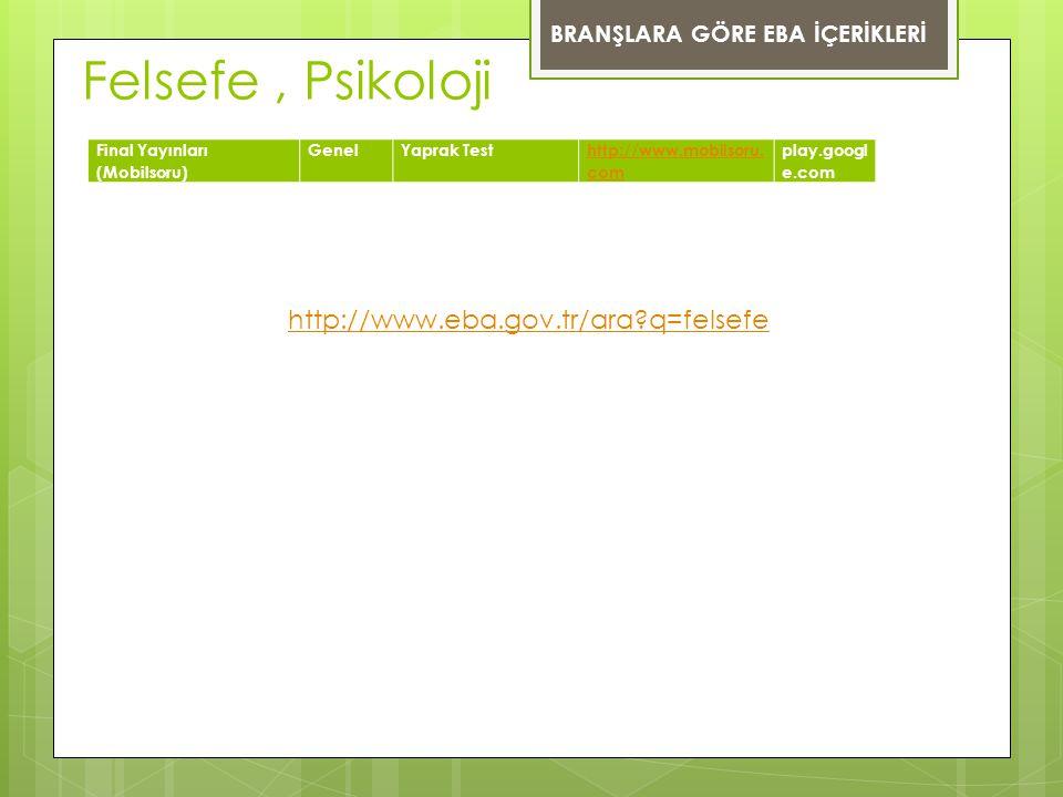 Felsefe , Psikoloji http://www.eba.gov.tr/ara q=felsefe