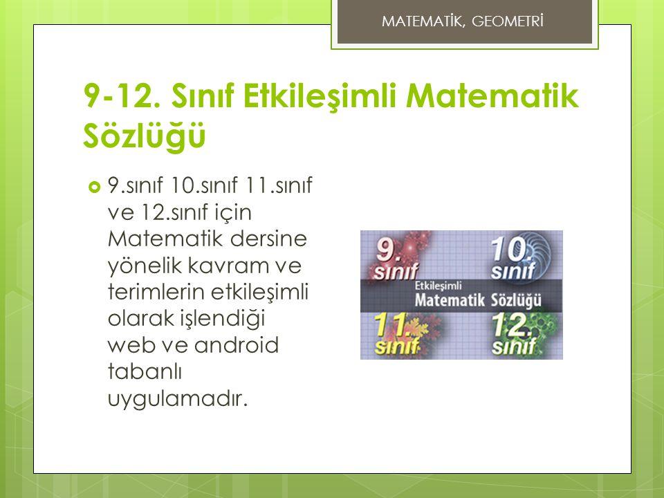 9-12. Sınıf Etkileşimli Matematik Sözlüğü