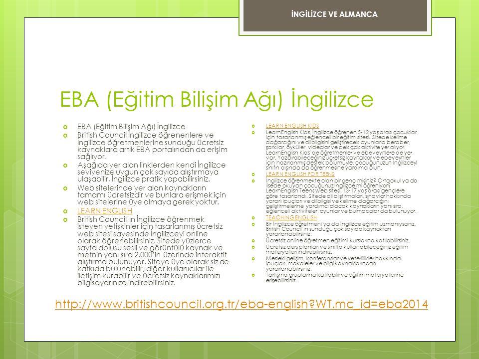 EBA (Eğitim Bilişim Ağı) İngilizce