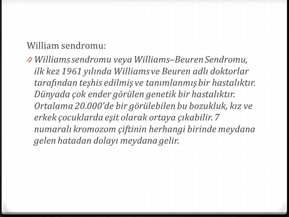 William sendromu: