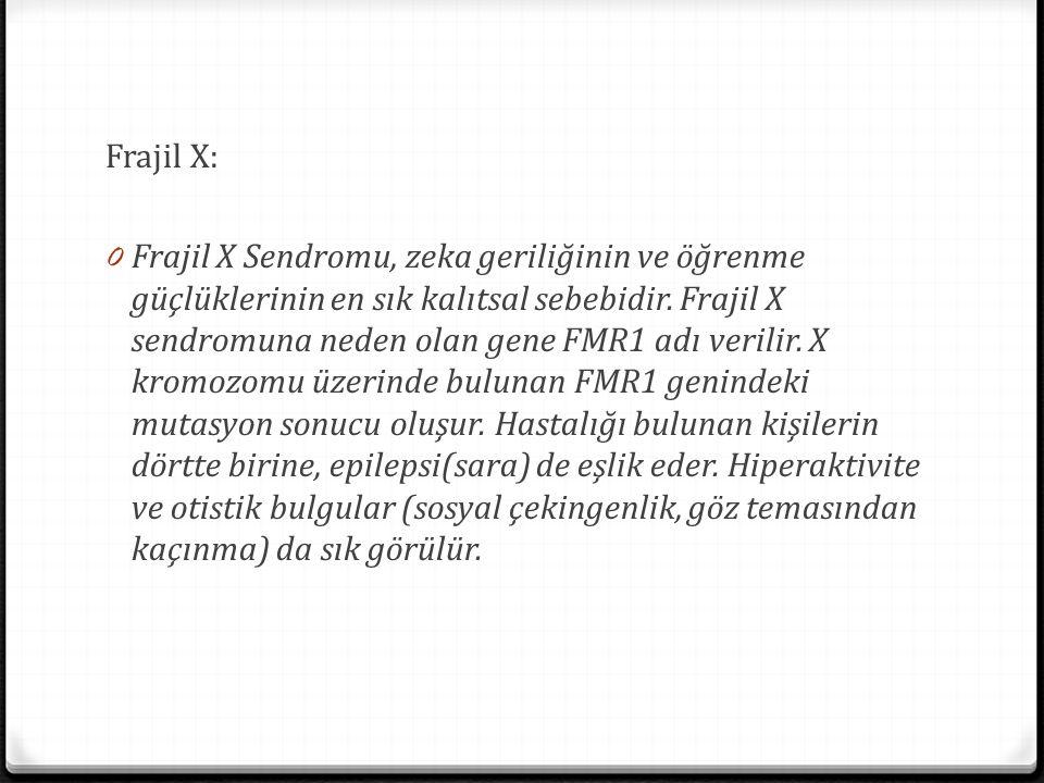 Frajil X: